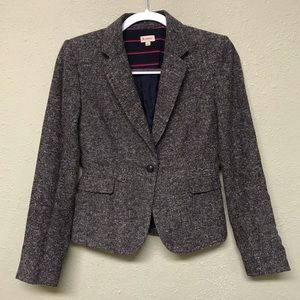 Cremieux Wool blend blazer professor arm patches